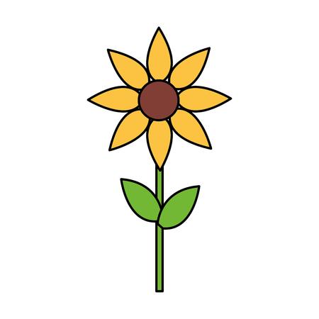 Illustration pour yellow flower decoration on white background vector illustration - image libre de droit