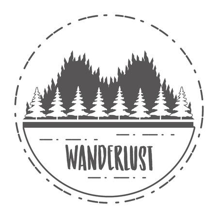 Illustration for forest nature wanderlust landscape sketch design vector illustration - Royalty Free Image