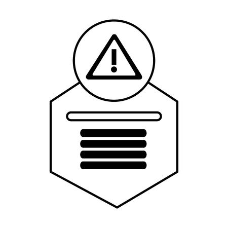 Ilustración de infographic design template web warning icon vector illustration vector illustration - Imagen libre de derechos