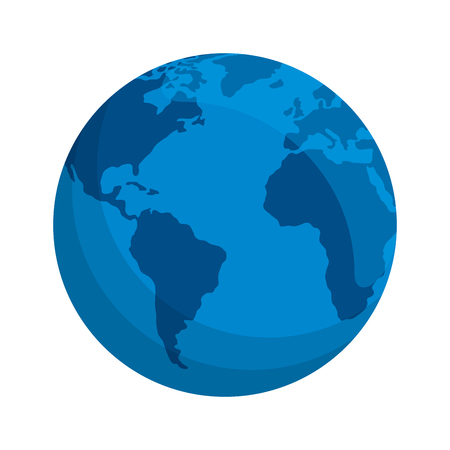 Illustration for world planet earth icon vector illustration design - Royalty Free Image