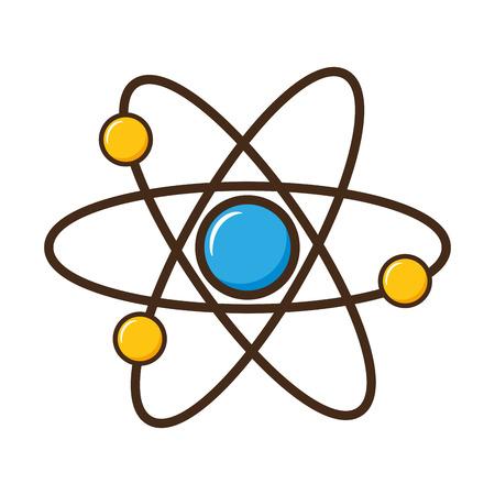 Illustration pour atom molecule science on white background vector illustration - image libre de droit