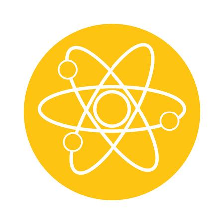 Illustration pour atom molecule science on yellow background  vector illustration - image libre de droit