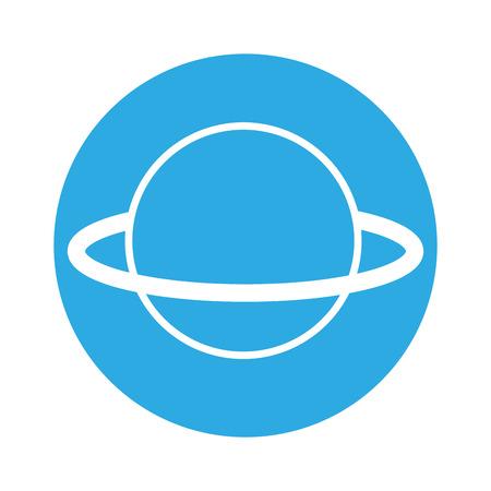Ilustración de planet astrology science on blue background  vector illustration - Imagen libre de derechos
