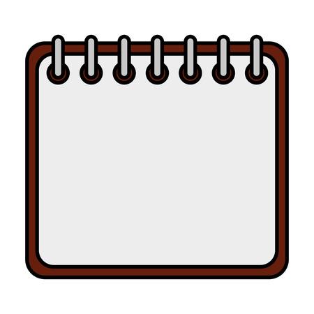 Ilustración de calendar reminder isolated icon vector illustration design - Imagen libre de derechos