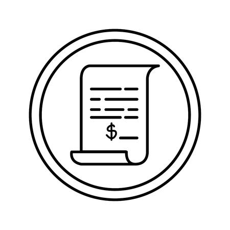 Illustration pour paper document isolated icon vector illustration design - image libre de droit
