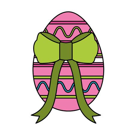 Ilustración de wrapped easter egg decorative ribbon vector illustration - Imagen libre de derechos