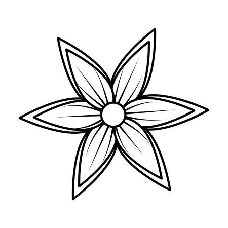 Illustration for beautiful flower decorative icon vector illustration design - Royalty Free Image
