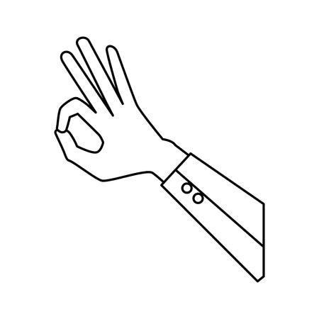 Illustration pour hand human ok symbol vector illustration design - image libre de droit