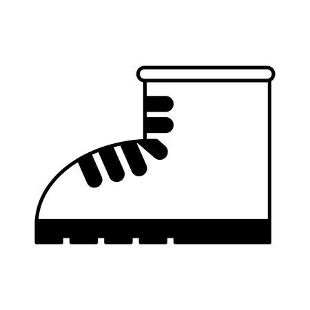 Illustration pour work boot shoe isolated icon vector illustration design - image libre de droit