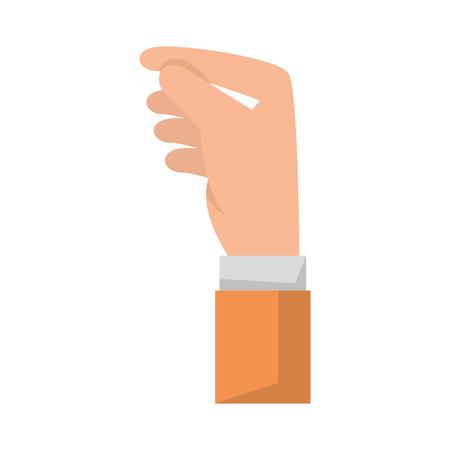 Ilustración de hand human receiving icon vector illustration design - Imagen libre de derechos