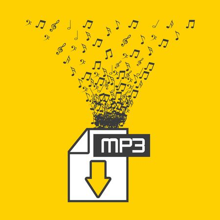 Illustration pour digital music design, vector illustration eps10 graphic - image libre de droit