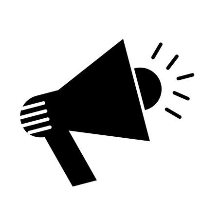 Ilustración de megaphone flat line icon vector illustration design - Imagen libre de derechos