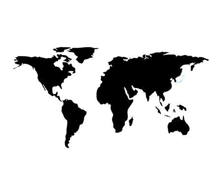 Illustration for world planet earth maps vector illustration design - Royalty Free Image