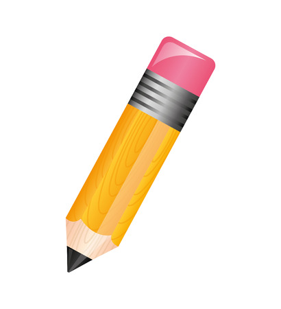 Photo pour pencil school supply isolated icon vector illustration design - image libre de droit