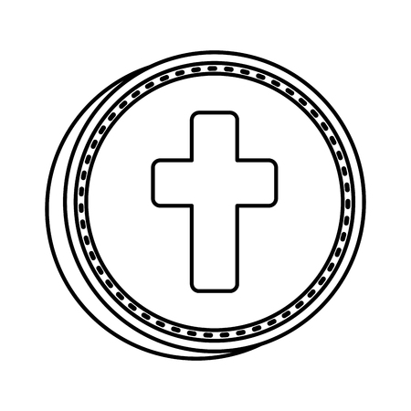 Illustration for first communion cross icon vector illustration design - Royalty Free Image
