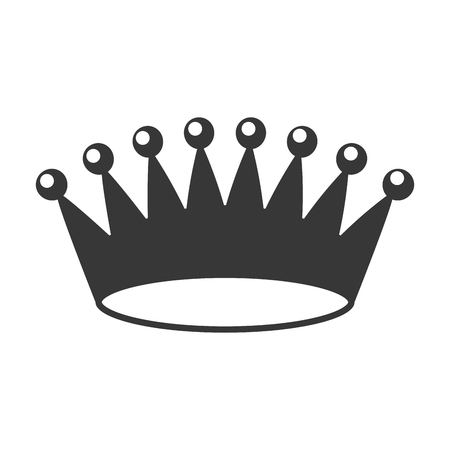 Illustration pour crown royalty jewelry on white background vector illustration - image libre de droit