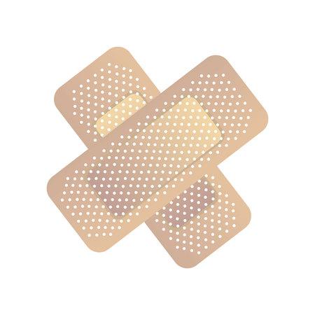 Ilustración de bandage medical isolated icon vector illustration design - Imagen libre de derechos