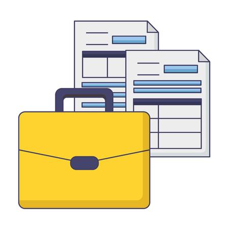 Photo pour suitcase forms papers tax payment vector illustration design - image libre de droit
