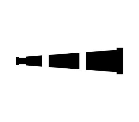 Illustration pour telescope device isolated icon vector illustration design - image libre de droit