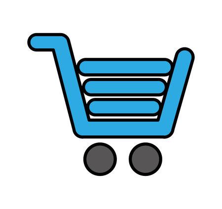 Ilustración de shopping cart commercial icon vector illustration design - Imagen libre de derechos