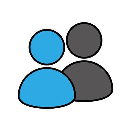 Illustration pour silhouette user avatar icon vector illustration design - image libre de droit