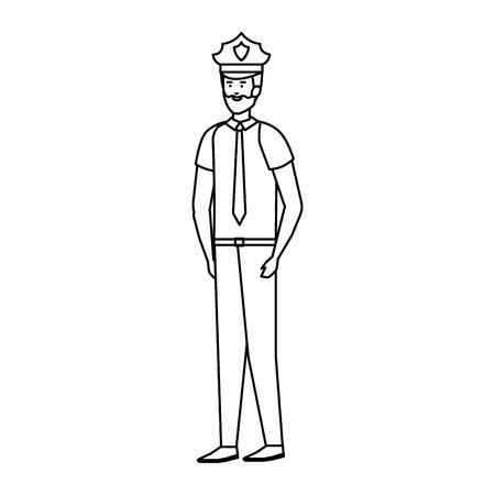 Ilustración de police officer avatar character vector illustration design - Imagen libre de derechos