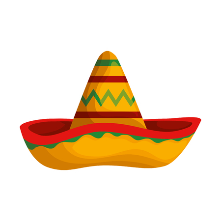 Illustration for mexican hat mariachi icon vector illustration design - Royalty Free Image