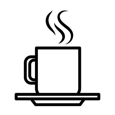 Ilustración de hot coffee mug on white background vector illustration design - Imagen libre de derechos