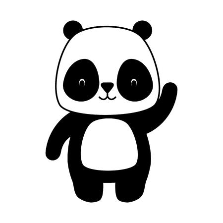 Ilustración de cute panda animal cartoon vector illustration design - Imagen libre de derechos