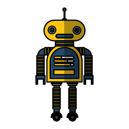Illustration pour electric robot avatar character vector illustration design - image libre de droit