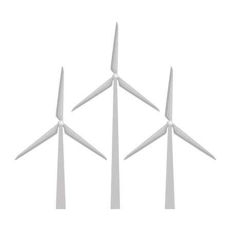 Illustration pour wind energy isolated icon vector illustration design - image libre de droit