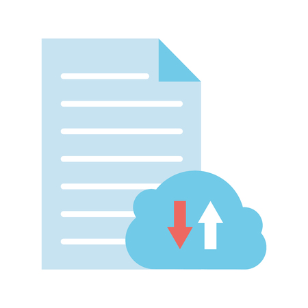 Illustration pour cloud computing data download upload vector illustration - image libre de droit