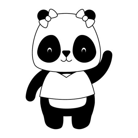 Illustration pour cute panda animal cartoon vector illustration design - image libre de droit