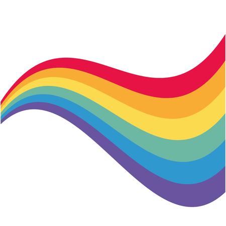 Illustration pour rainbow wave lgbt pride vector illustration design - image libre de droit