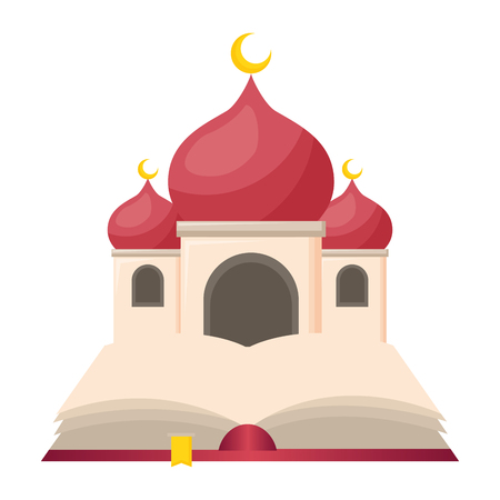 Illustration pour taj mahal and holy quran vector illustration design - image libre de droit