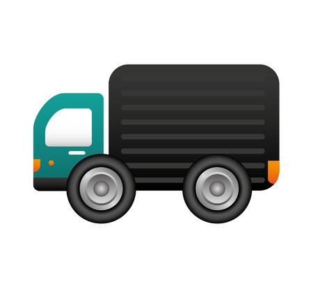 Illustration pour truck vehicle delivery service vector illustration design - image libre de droit