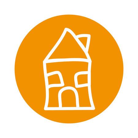 Illustration pour cute house drawing isolated icon vector illustration design - image libre de droit