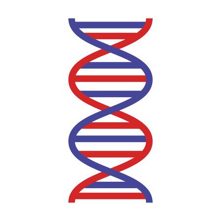 Illustration pour dna molecule science icon vector illustration design - image libre de droit