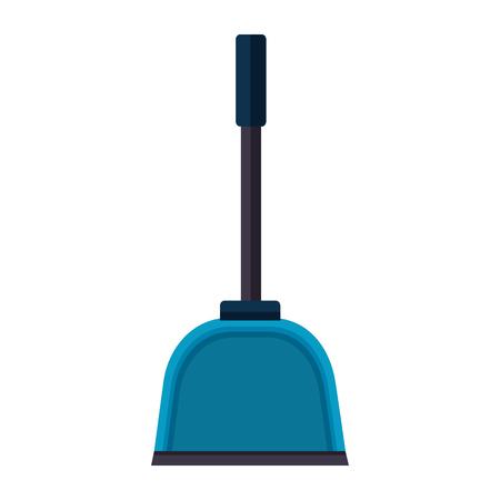 Illustration pour dust pan spring cleaning tools vector illustration - image libre de droit
