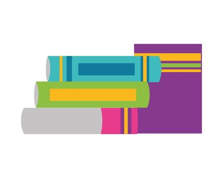 Illustration pour books stacked literature school supplies vector illustration design - image libre de droit