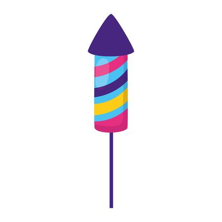 Illustration for carnival rocket fireworks festive vector illustration design - Royalty Free Image