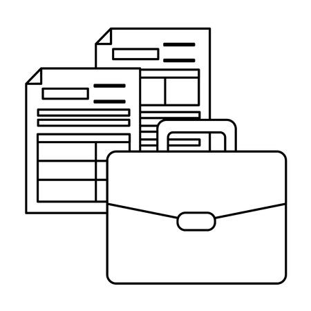 Illustration pour suitcase forms papers tax payment vector illustration design - image libre de droit