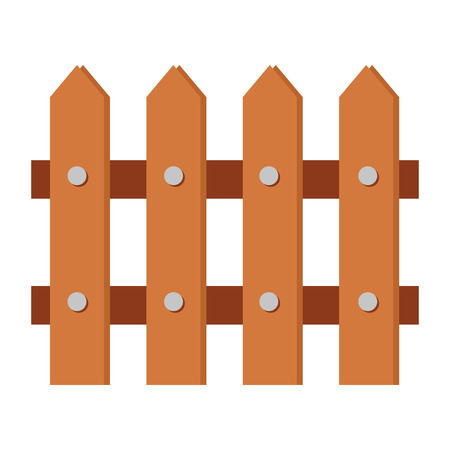 Illustration pour wooden fence isolated icon vector illustration design - image libre de droit