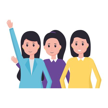 Illustrazione per team people employee office vector illustration design - Immagini Royalty Free