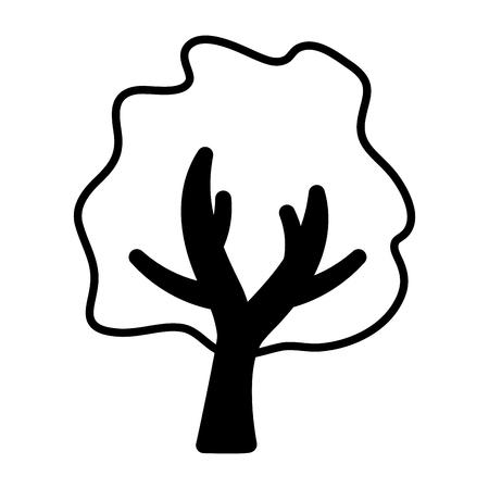 Illustration pour tree botanical forest on white background vector illustration - image libre de droit