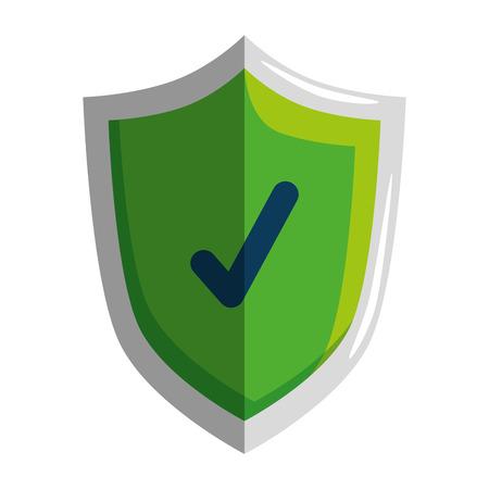 Illustrazione per shield with check symbol vector illustration design - Immagini Royalty Free