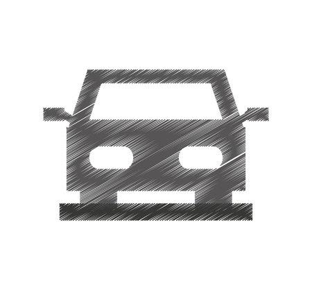 Illustration pour car auto vehicle isolated icon vector illustration design - image libre de droit