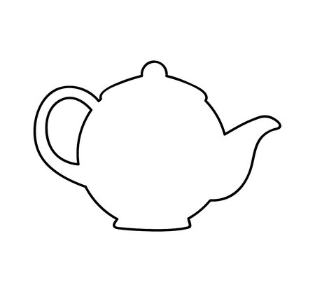 Illustration pour teapot drink isolated icon vector illustration design - image libre de droit