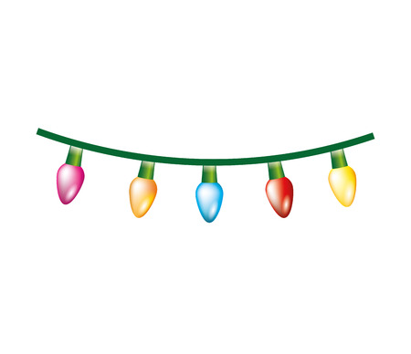 Ilustración de christmas lights decoration isolated icon vector illustration design - Imagen libre de derechos