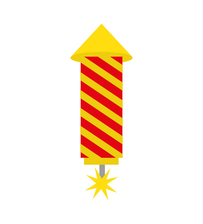 Illustration for rocket firework isolated icon vector illustration design - Royalty Free Image